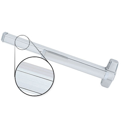 Von Duprin QEL99EO 4 US26 Polished Chrome Finish Four Foot Quiet Electric Latch Retraction Panic Bar Exit Only