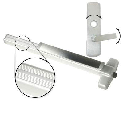 Von Duprin QEL99L NL Quiet Electrified Latch Retraction Panic Bar With Lever Trim Rigid Night Latch