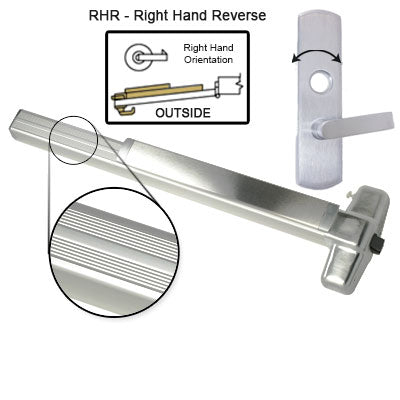 Von Duprin ELRX99L NL Electrified Latch Retraction With Rex Switch Panic Bar With Lever Trim Rigid Night Latch