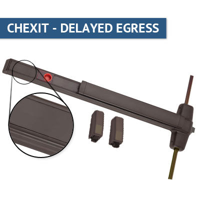 Von Duprin CXA 9827EO Chexit Delayed Egress Vertical Rod Panic Bar Exit Only