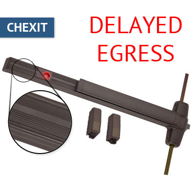 Von Duprin CXA 9927EO Chexit Delayed Egress Vertical Rod Panic Bar Exit Only