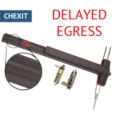Von Duprin CX 9947EO Chexit Delayed Egress Concealed Vertical Rod Panic Bar Exit Only