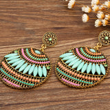 Boho Round Ethnic Handmade Fine Earrings