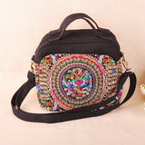 Ethnic  Embroidery Bag Handmade Canvas Vintage Boho Bag