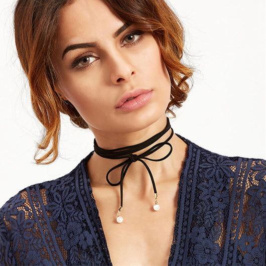 Beautiful Leather Boho Style Choker Necklace