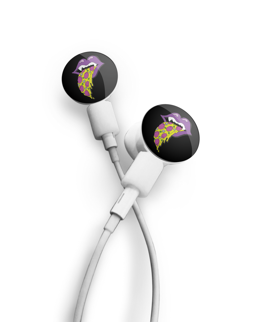 dekaSlides: Pair of Apple Earbud Covers - Pizza Mouth