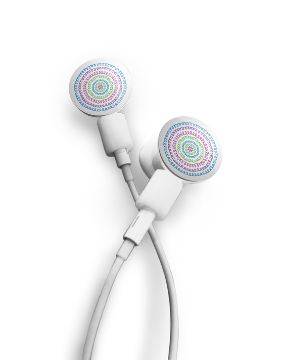 Earbuds + Sound Waves dekaSlides