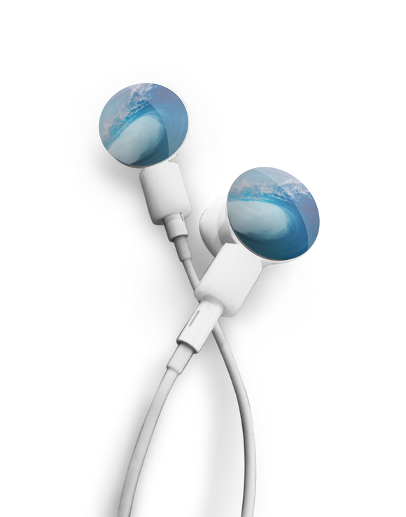 dekaSlides: Pair of Apple Earbud Covers - Tubular Wave