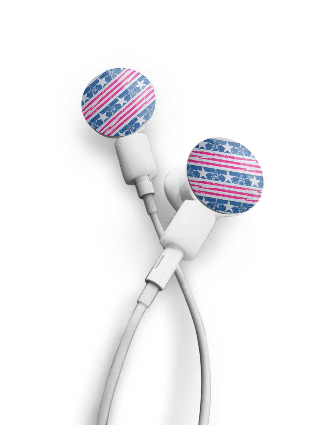 Earbuds + Stars and Stripes dekaSlides