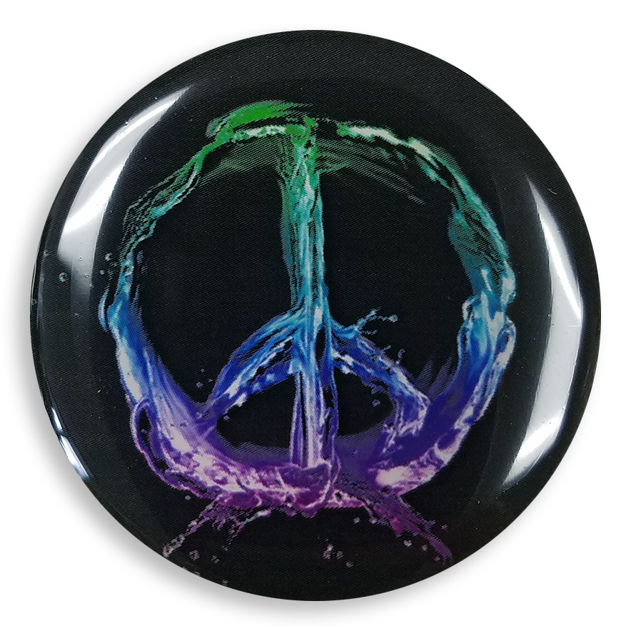 dekaPrints 3D Bubble Graphics for Popsockets - Peace Sign