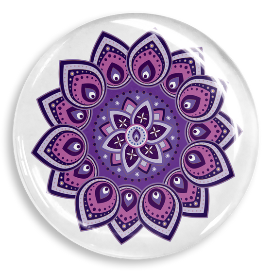 dekaPrints 3D Bubble Graphics for Popsockets - Purple Mandala