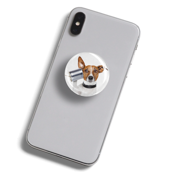 dekaPrints 3D Bubble Graphics for Popsockets - Dog Is Listening