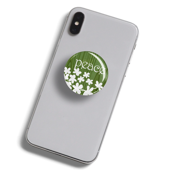 dekaPrints 3D Bubble Graphics for Popsockets - Peace