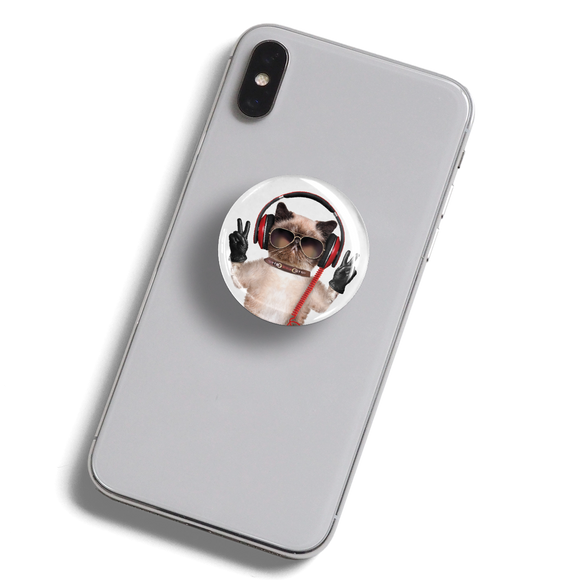 dekaPrints 3D Bubble Graphics for Popsockets - Peace Cat