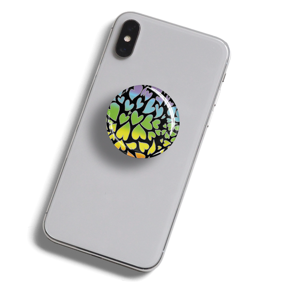 dekaPrints 3D Bubble Graphics for Popsockets - Rainbow Hearts