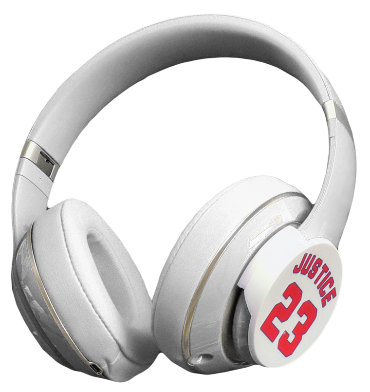dekaSlides for Beats headphones - Justice 23 White