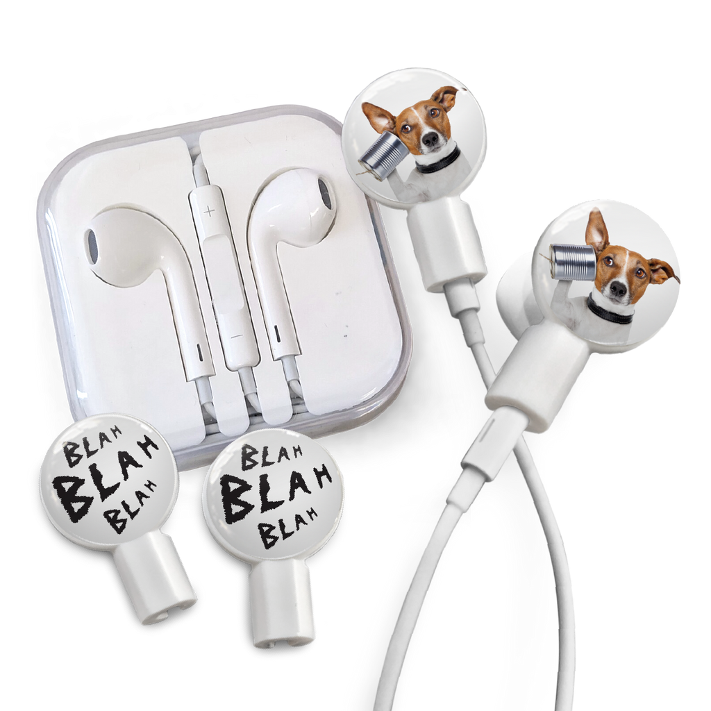 Earbuds + Combo Pack: Dog is Listening + Blah Blah Blah