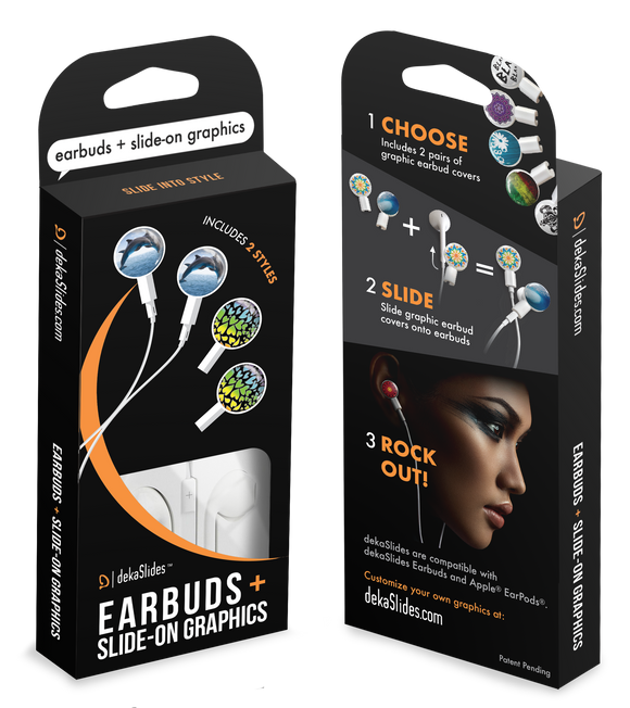 Earbuds + Combo Pack: Dolphins + Rainbow Hearts