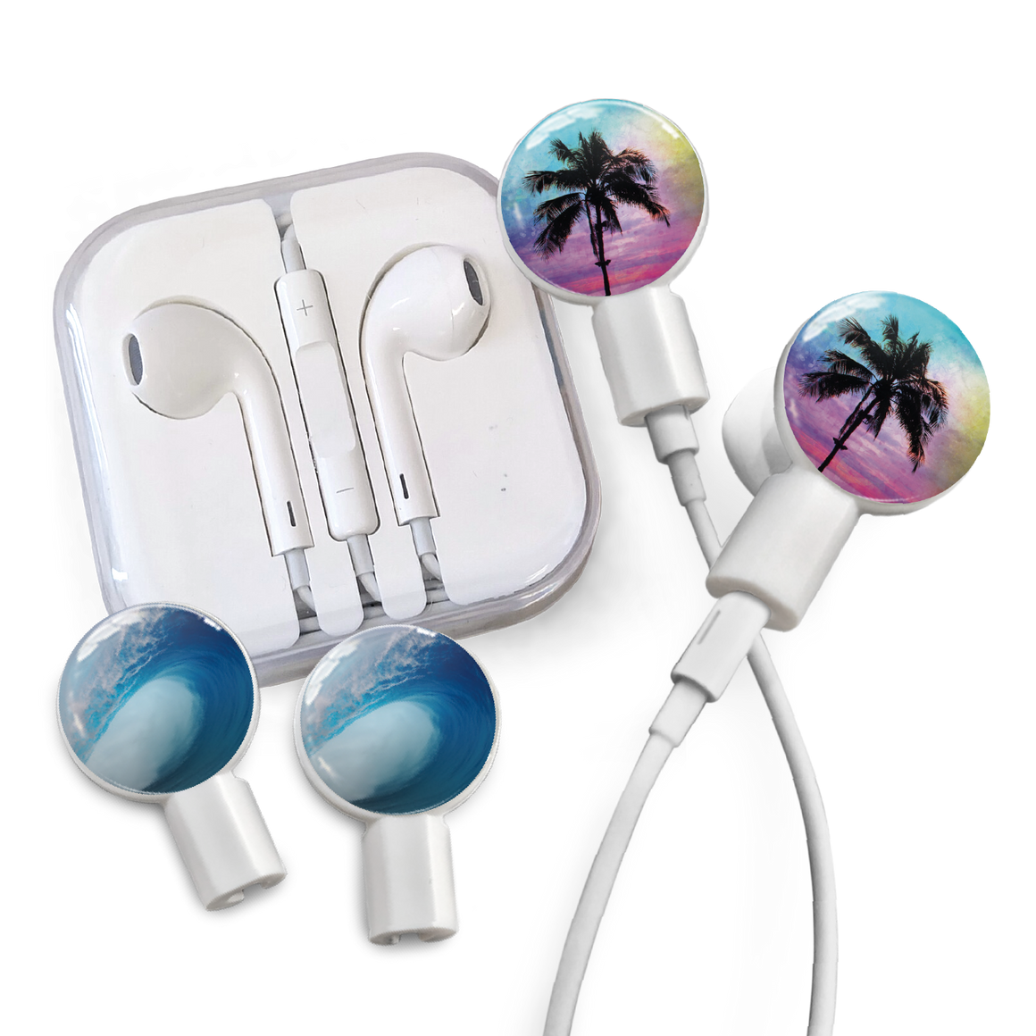 Earbuds + Combo Pack: Palm Paradise + Tubular Wave