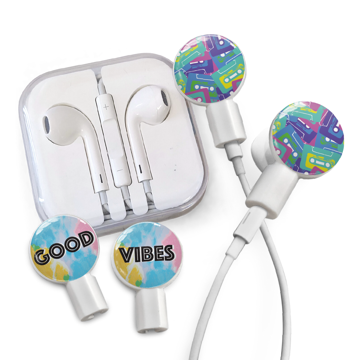 Earbuds + Combo Pack: Cassettes + Good Vibes
