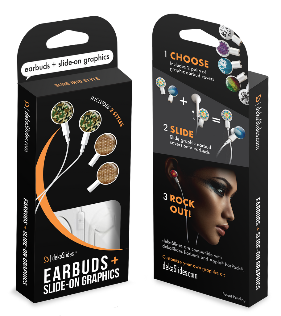 Earbuds + Combo Pack: Forest Camo + Flower of Life