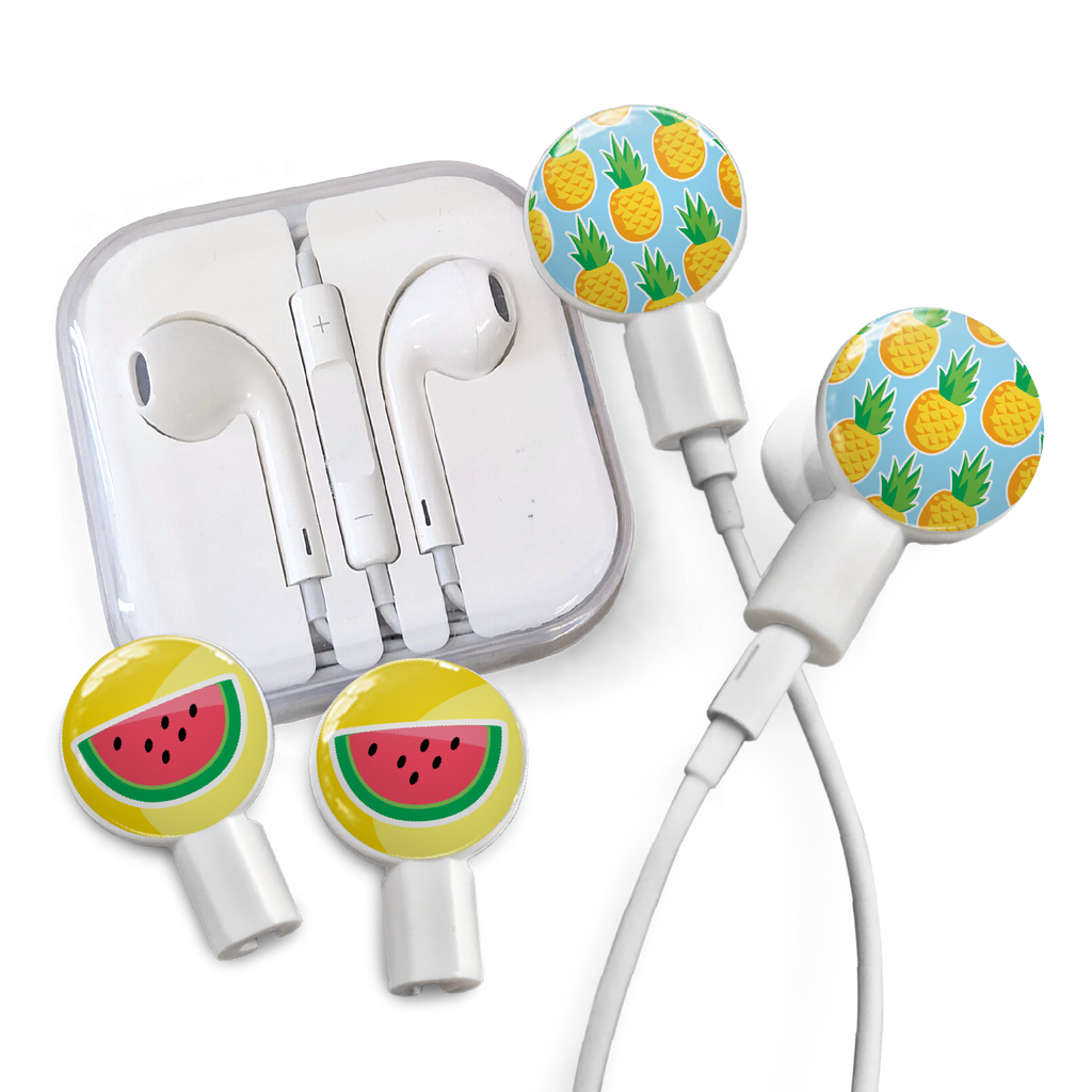Earbuds + Combo Pack: Pineapples + Watermelon