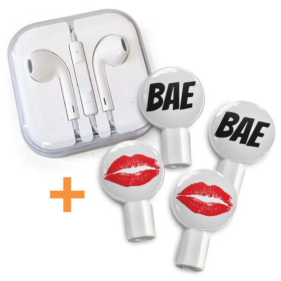 Earbuds + Combo Pack: Bae + Hot Lips