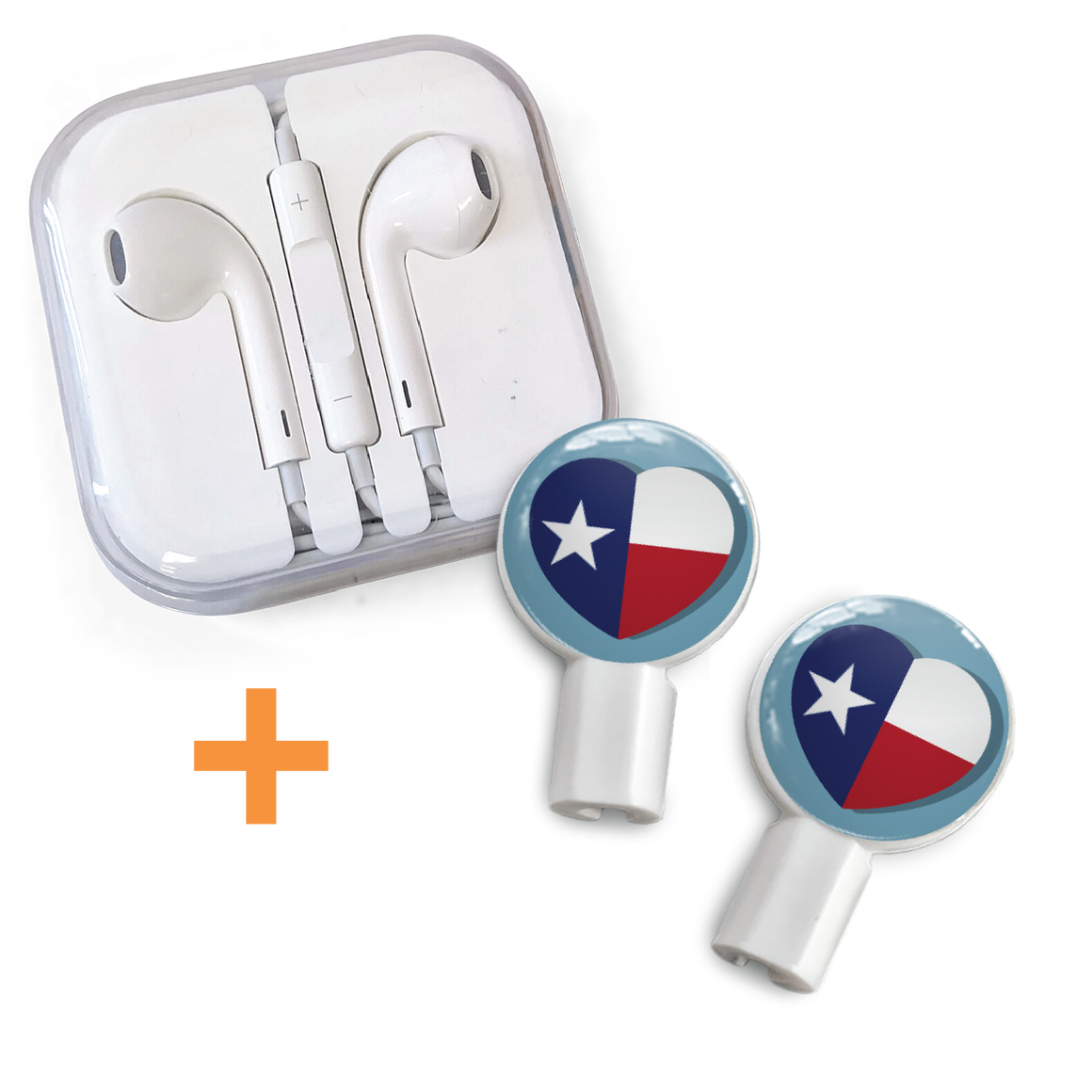 Earbuds + Slide-On Graphics: Support Texas