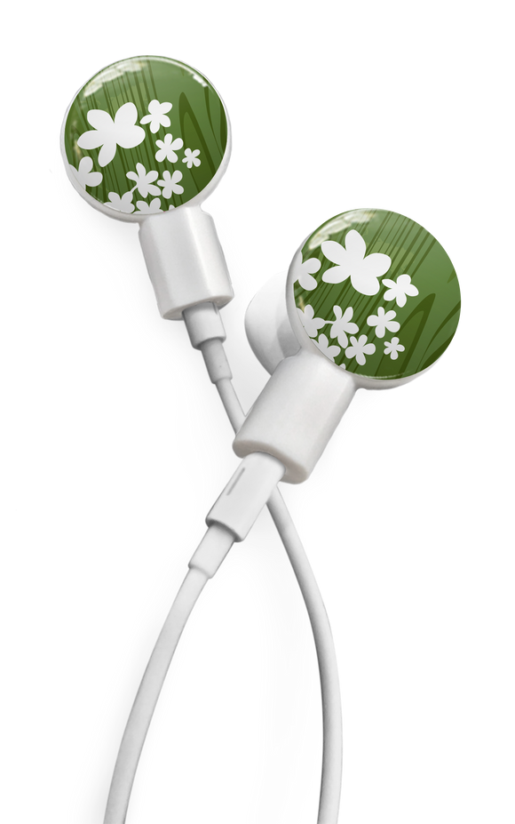 dekaSlides: Pair of Apple Earbud Covers - Forest Peace