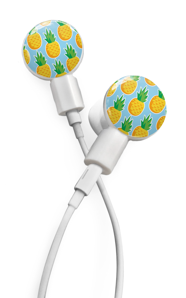 dekaSlides Slide-On Earbud Graphics - Pineapples