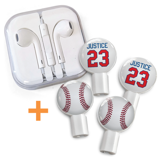 "Earbuds + Combo Pack: Justice 23 + Baseball ""LIMITED EDITION"""