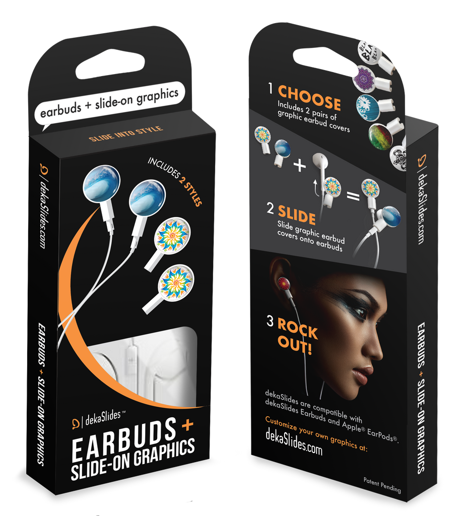Earbuds + Combo Pack: Tubular Wave + Mandala Flower