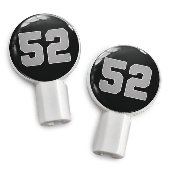 dekaSlides: Pair of Apple Earbud Covers - 52 black/silver