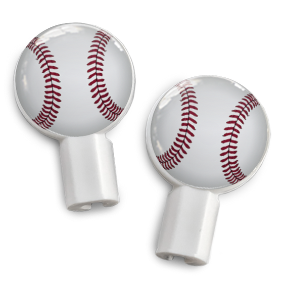 dekaSlides: Pair of Apple Earbud Covers - Baseball