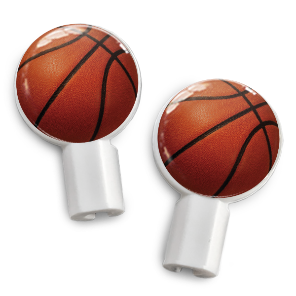 dekaSlides: Pair of Apple Earbud Covers - Basketball
