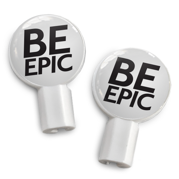 dekaSlides: Pair of Apple Earbud Covers - Be Epic