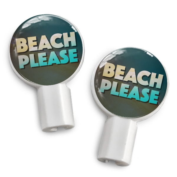 dekaSlides Slide-On Earbud Graphics - Beach Please