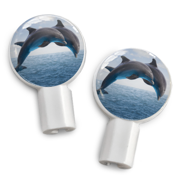 dekaSlides: Pair of Apple Earbud Covers - Dolphins