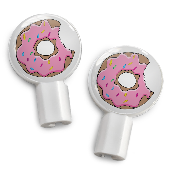 dekaSlides: Pair of Apple Earbud Covers - Donut Bite