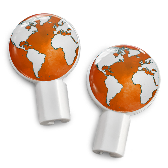 dekaSlides: Pair of Apple Earbud Covers - Earth is Listening