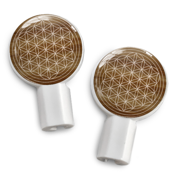 dekaSlides Slide-On Earbud Graphics - Flower of Life