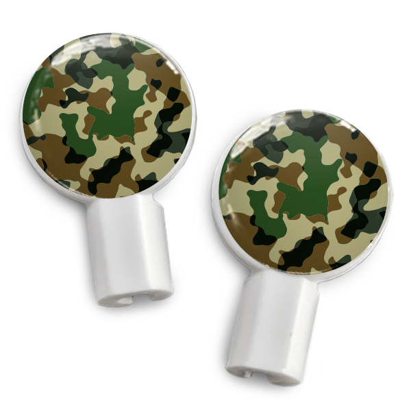 dekaSlides Slide-On Earbud Graphics - Forest Camo