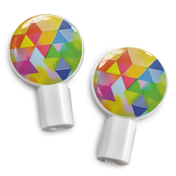 dekaSlides Slide-On Earbud Graphics - Geometric Rainbow