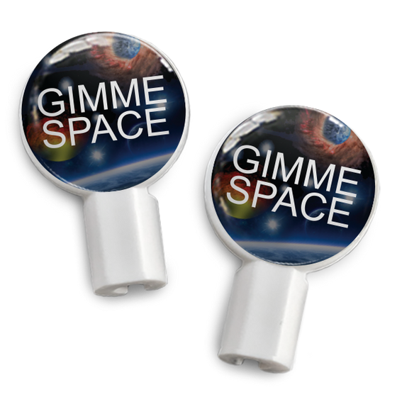 dekaSlides: Pair of Apple Earbud Covers - Gimme Space