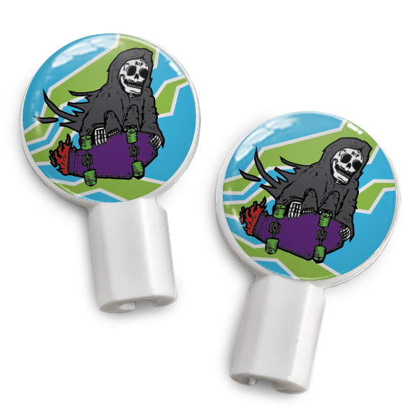 dekaSlides: Pair of Apple Earbud Covers - Grim Skater