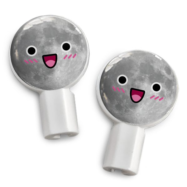 dekaSlides Slide-On Earbud Graphics - Happy Moon