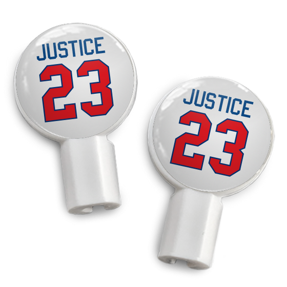 dekaSlides: Pair of Apple Earbud Covers - Justice 23