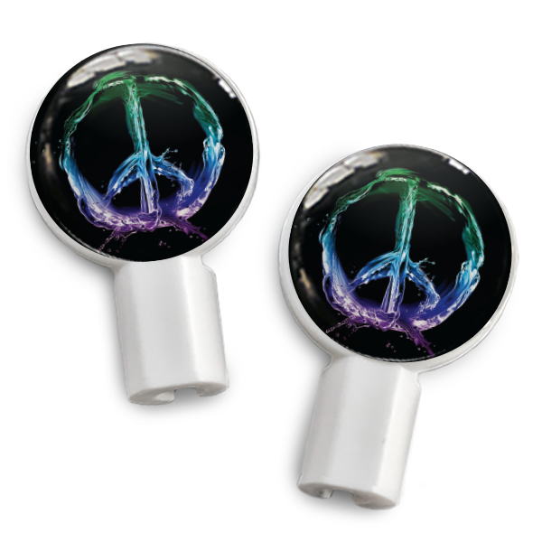 dekaSlides: Pair of Apple Earbud Covers - peace sign