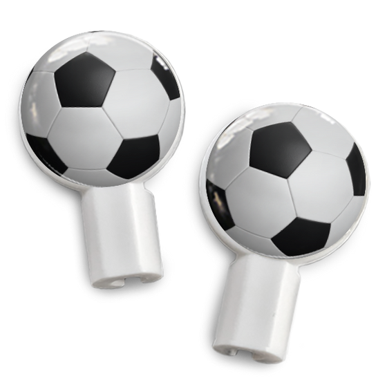 dekaSlides: Pair of Apple Earbud Covers - Soccer