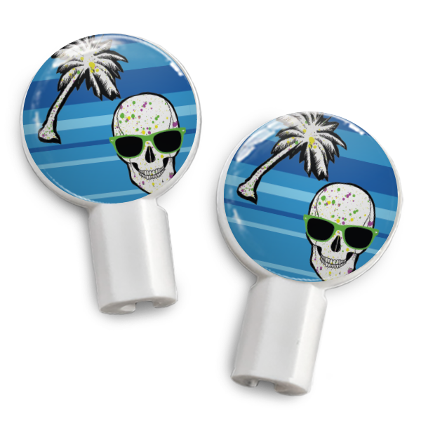 dekaSlides: Pair of Apple Earbud Covers - Tropical Skull